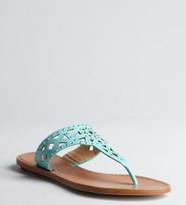 c45115325499 BELLE by Sigerson Morrison Agua Riko Studded Cutout Leather Thong ...