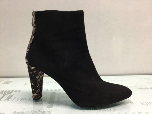 Stuart Weitzman Lofty Ankle Boots Black Suede Size