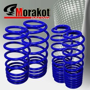 Jdm-Sport-05-10-Ford-Mustang-Suspension-Drop-4pc-lower-lowering-Spring-Kit-Blue