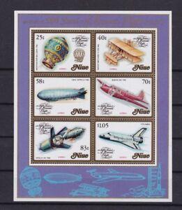 (f) Niue Bl.66** Zeppelin Avion Apollo Boeing Ballon Wright Columbia Prix Le Moins Cher De Notre Site