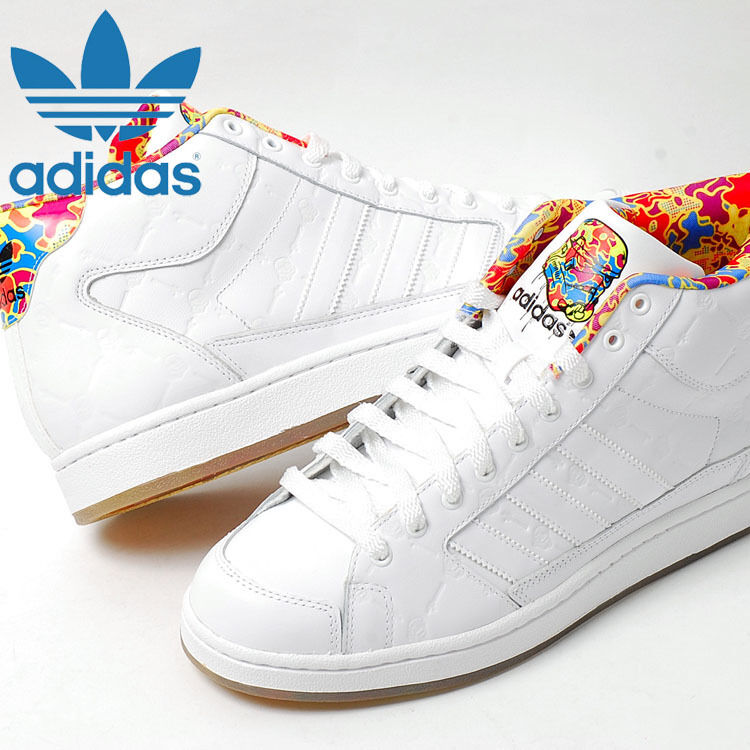 ADIDAS STAR WARS MID WHITE LEATHER SNEAKERS US 11.5 NEW RARE