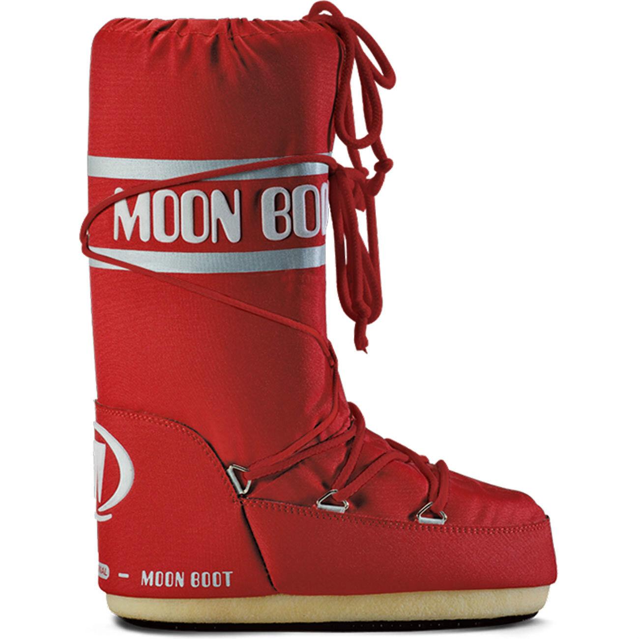 TECNICA MoonStiefel Moonboot Moon snow Boot Stiefel Nylon Schneestiefel Stiefel snow Moon rot 69a17b