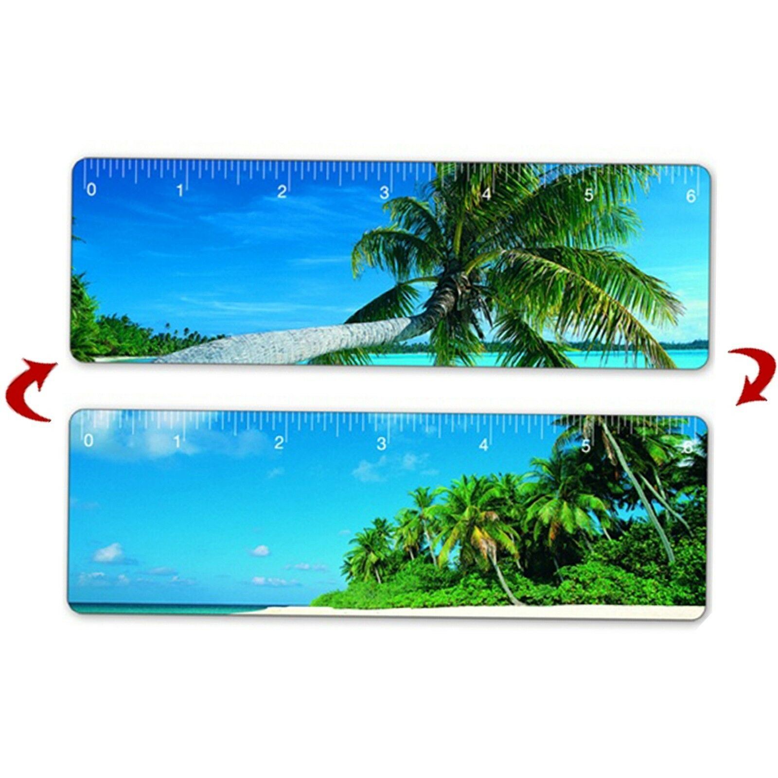 Tropical Island Hawaii Ruler Bookmark 6 100 pcs Lenticular Flip  RU06-256-100