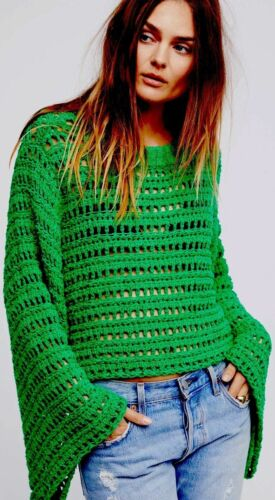 Nwt Caught Small Sfs People S Strik 168 Free Bell Up Sweater Sleeve Hæklet pArpaqn