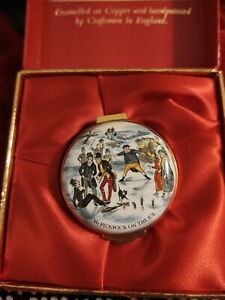 English-Enamels-by-Crummles-1981-Mr-Pickwick-on-Ice-The-Harrods-Christmas-Box