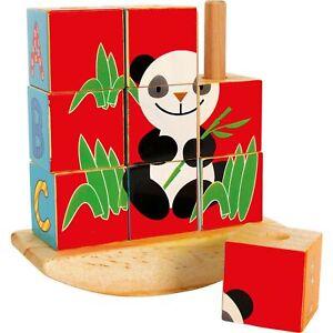 Legler-small-foot-Steck-Wuerfelpuzzle-Panda-ab-12-Monate-8556