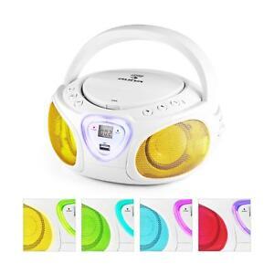Boombox Radio CD Bluetooth Reproductor USB MP3 con Cassette portátil LED música
