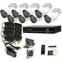 8 Ch Dvr Surveillance Security System Weatherproof 720p Ir Cameras Kit 1tb Hdd