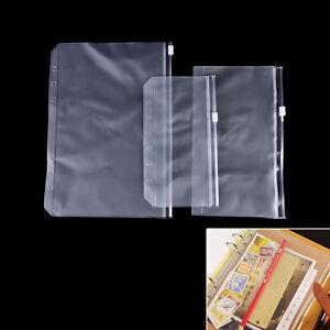 A5//A6//A7 Transparent Zip Lock Umschlag Binder Pocket Refill-Organizer