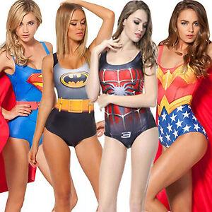 9f98df6a9a Image is loading Womens-Superhero-DC-Marvel-Bikini-Swimwear-Lady-Cosplay-