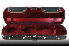Petz rechteckiges 4/4 Violinetui, Geigenkoffer, Violin Koffer Case, schwarz/rot