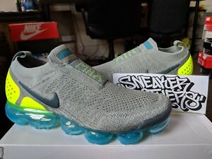 03b724c3f4f4 Nike Air Vapormax Flyknit Moc 2 Mica Green Volt Neo Turquoise Blue ...