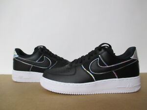 huge selection of 94be9 896d0 Image is loading NIKE-AIR-FORCE-1-LOW-07-LV8-BLACK-