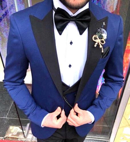 hommes designer gilet parti 52 taille bleu de fit slim Costume mariage smoking 0q1Twnd