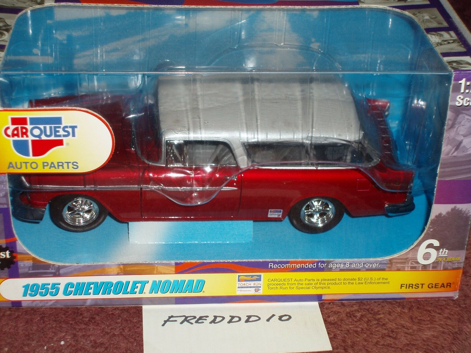1st GEAR 1955 CHEVY NOMAD 1 25 CARQUEST AUTO PARTS VHTF