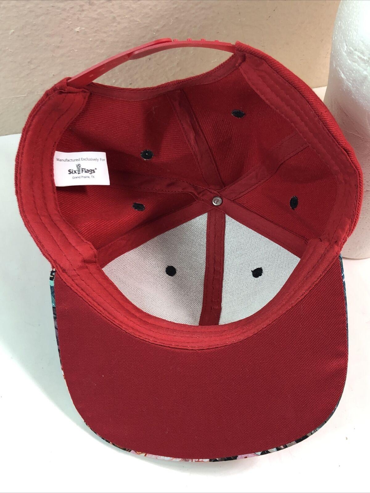 Harley Quinn Snapback Hat Cap Red - image 7