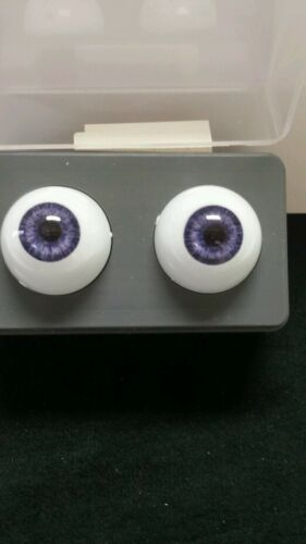 GLASTIC Realistic DOLL EYES 24 MM BLUE