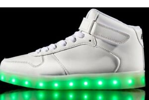 Neon Kyx Kids Light Up Shoes High Tops White Retails  74.99 Size 1 ... f7a40843a