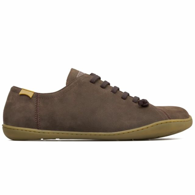 571fb9344 Camper Peu Cami 17665 Dark Brown Mens Nubuck Lace Up Trainers All Sizes
