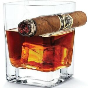 Whiskey-Glass-Cup-With-Cigar-Holder-Groove-Rack-Kitchen-Bar-Wine-Drinking-Mug