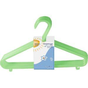 Bieco Kinder Kleiderbügel Kunststoff 32 Stück Farbe grün