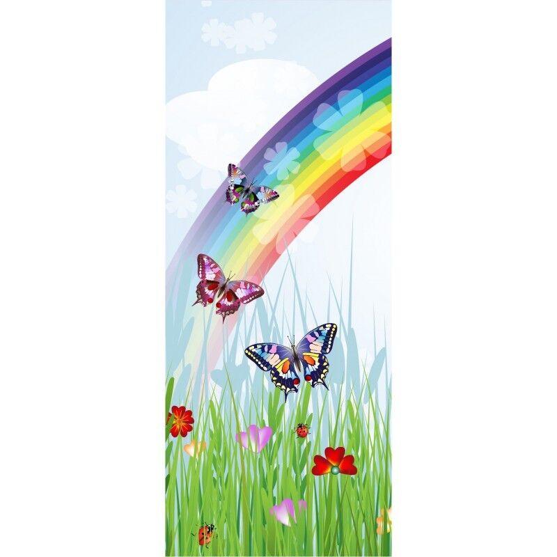 Papier Papier Papier peint porte enfant Papillons Arc en ciel 1738 7c8e23