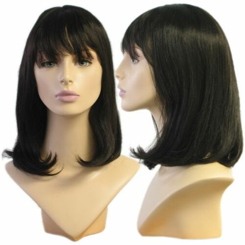 Wig Only WG-018 Soft Look Black Alley Wig Halloween//Party//Costume//Cosplay