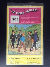 Puzzle je veux parler Tintin 1976 TBE
