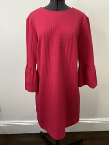 Zara Pink Shift Style Dress With Flared Sleeves Size S EUC