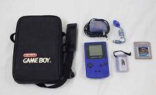 Nintendo GameBoy Color Purple w/ Batman Game Case & Accessories Bundle Works!