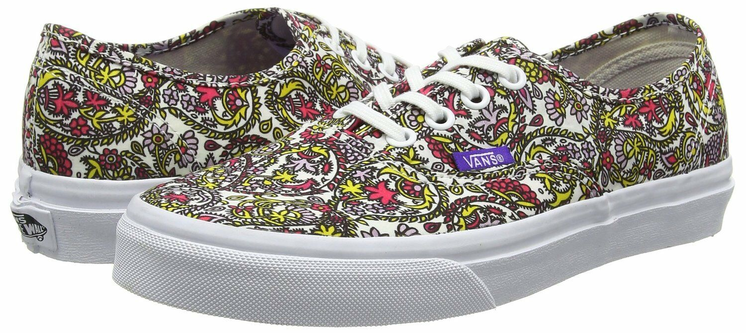 NEW VANS AUTHENTIC Schuhe LIBERTY PAISLEY MULTI TRUE 9.5 Weiß Damenschuhe SIZE 9.5 TRUE  Herren 8 e3e86a