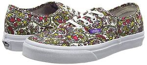 NEW-VANS-AUTHENTIC-SHOES-LIBERTY-PAISLEY-MULTI-TRUE-WHITE-WOMENS-SIZE-9-5-MENS-8