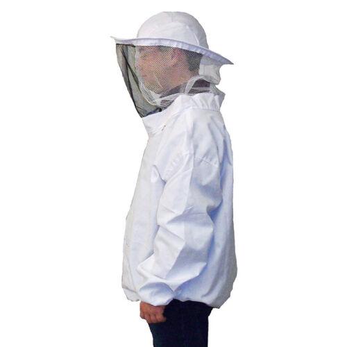 Neu Profi Bienenzucht Jacke Schleier Bienen Schutzanzug Kleid Kittel Ausrüstung