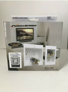 PowerBridge WM-2 Dual Power Connector In-Wall Protector - White  New