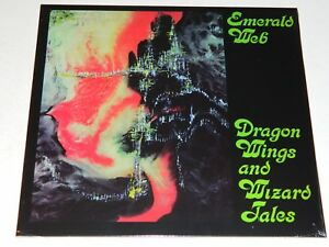 EMERALD-WEB-Dragon-Wings-and-Wizard-Tales-Re-LongHair-Vinyl-LP-New