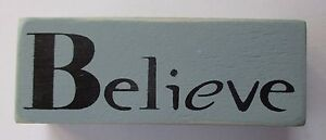 Details About P Believe Word Blocks Wood Home Decor Distressed 4 Block