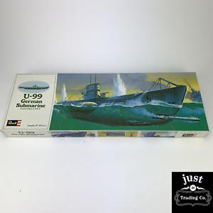 Vintage-1976-Revell-U-99-Deutsches-Unterseeboot-Plastic-Model-Kit-5054