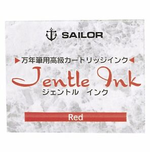 SAILOR 13-0402-130 Cartridge Ink Jentle Red 12 pcs NEW from Japan