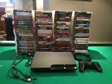 Sony PlayStation 3 Slim Charcoal Black Console With games  Fast Shipping !