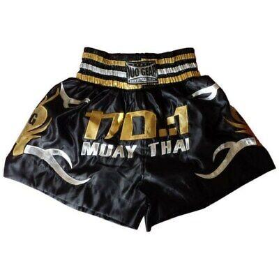 S/&S BLACK WHITE DUO GEAR MUAY THAI SHORTS KICKBOXPANT THAIBOXPANT *UK SELLER*