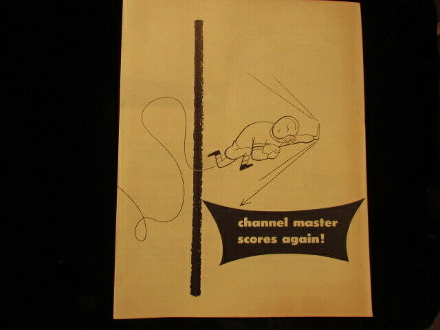Vintage advertising brochure Channel Master TV Antenna . Available Now for 8.99