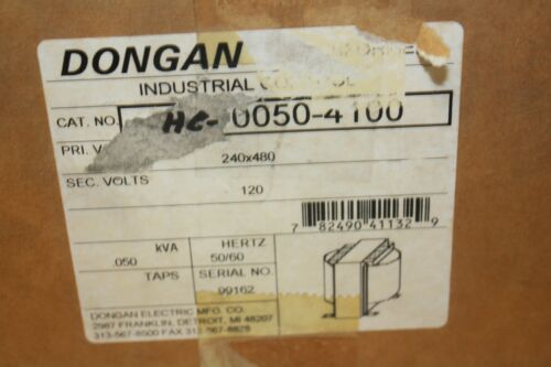 120 VOLT DONGAN  .050 KVA CONTROL TRANSFORMER 240 480 VOLT