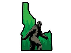 Idaho-state-shape-with-Bigfoot-Bumper-Sticker