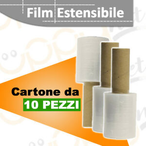 10-pezzi-Mini-Film-Estensibile-con-Manico-Pellicola-Trasparente-Domopack-H10