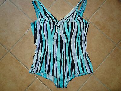 Symbol Der Marke Badeanzug Lycra By Dupont Xl 50 Cup C Vintage 80er 90er Jahren Schwarz Blau Lila Um Jeden Preis