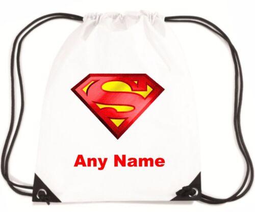 Personalised SUPERMAN Style PE//School//Swimming//Bag by Mayzie Designs®