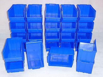 Industriebox mit Klappe 400x150x97 mm blau Lagerbox 10 Stück