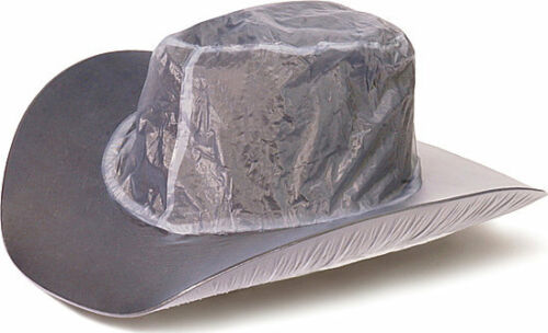 "Vinyl ~ 5/"" Brim HAT RAINCOVER ~ Western Cowboy Rain Cover Protector Oversized"