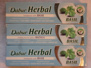 3 DABUR AYURVEDA BASIL HERBAL TOOTHPASTE FOR ORAL HEALTH 465g - London, London, United Kingdom - Returns accepted Most purchases from business sellers are protected by the Consumer Contract Regulations 2013 which give you the right to cancel the purchase within 14 days after the day you receive the item. Find out more - London, London, United Kingdom
