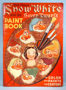1938 Snow White & the Seven Dwarfs Oversized Paint Coloring Book ...